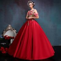 Delicate Floral Embroidery Quinceanera Dresses Scoop Organza Party Dress Sweet Masquerade Debutante Gown vestido de debutante