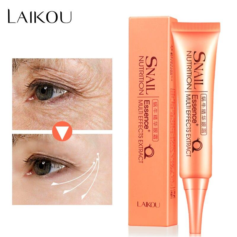 LAIKOU Snail Serum Repair Eye Cream Anti wrinkle Anti Aging Anti Puffiness Eye Gel Dark Circle Whitening Moisturizing Skin Care