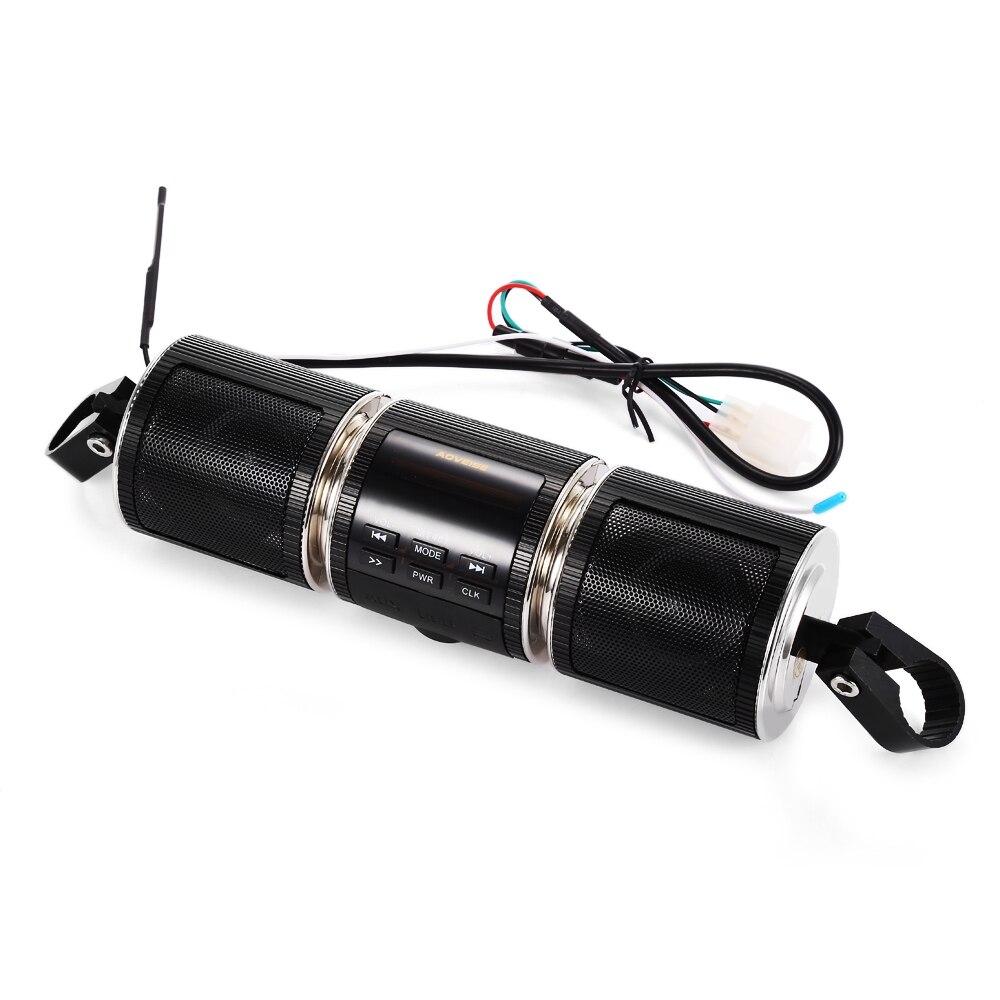 Ollymurs Music-Player Stereo-Speaker Fm-Radio Motorcycle Mp3 Bluetooth MT487 Black Waterproof