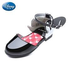 Disney Детская обувь 2018 новые летние обувь для девочек с открытым носком Обувь большие дети мода DS2342