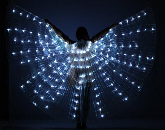 Для женщин светодиодный свет Isis крылья живот Танцы костюмы 360 египетского сцены Новое поступление открытие Танцы r реквизит крылья stick