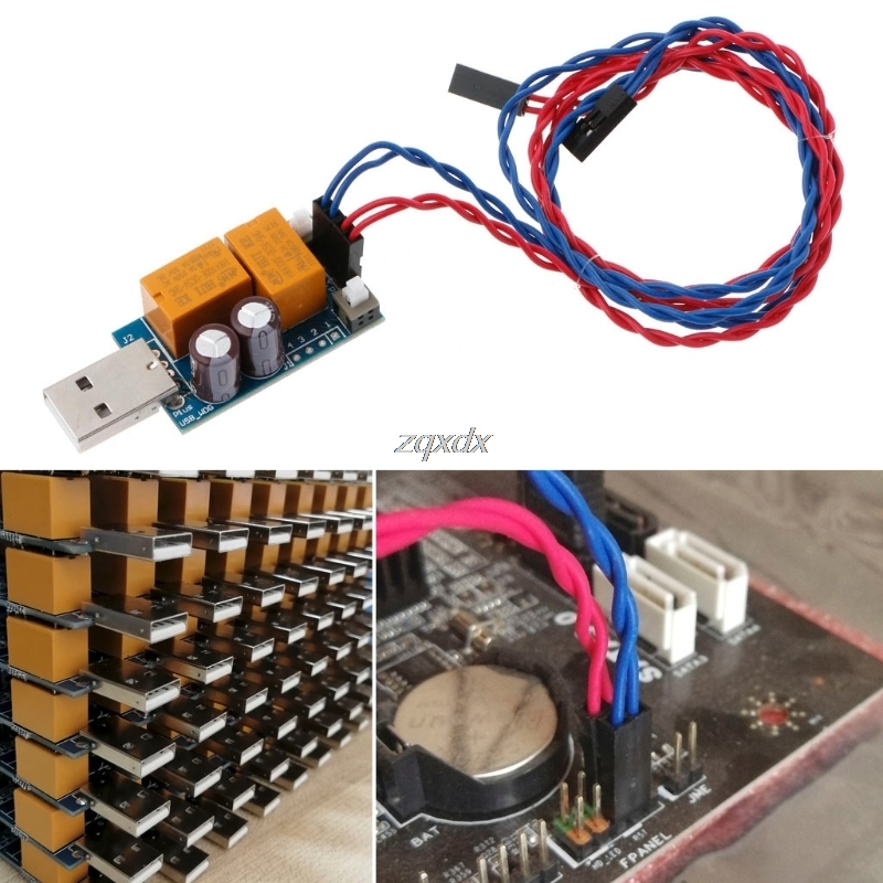 Double-Relay USB Watchdog Card/Computer/Unattended Automatic Restart Blue Screen Crash/Mining/Game/Server/ LTC BTC Miner Z09 lauxjack mining double layer bicycle