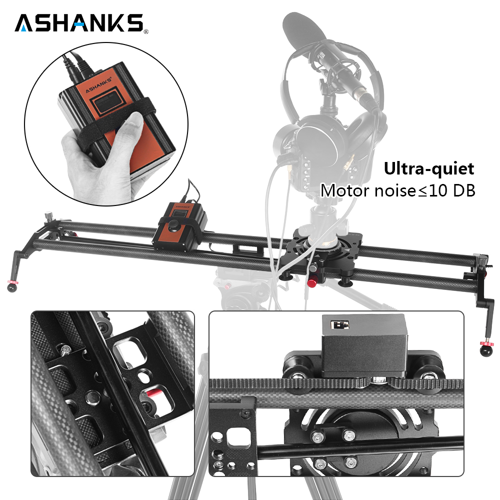 ASHANKS S2 Silent Stepper Motor Motorized Timelapse Carbon Fiber Slider for Electric Control Follow Focus Interviews