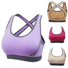 5 Цвета Спорт Бюстгальтер Для Женщин Gym Yoga Спорт Бюстгальтер Девушка Нижнее Белье Нейлон Высокого Качества Спандекс Черный Красный желтый