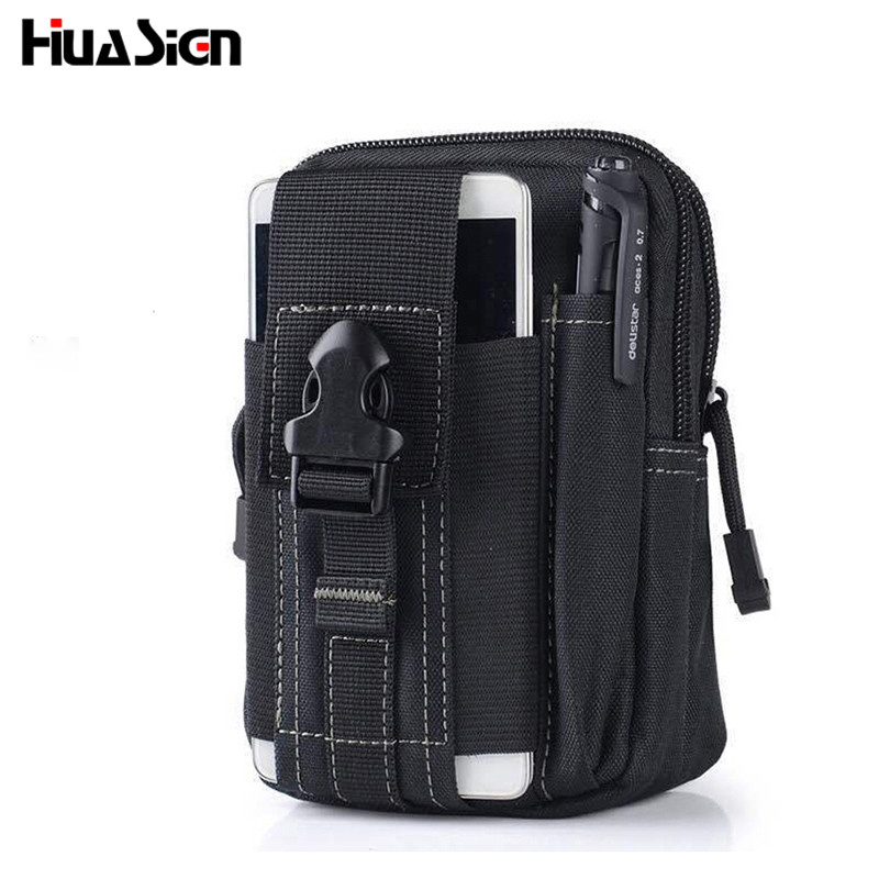 Multifunction Military Waterproof Nylon Waist Fanny Pack Belt Bag Pouch Wallet Phone Belt Bag universal waist belt bag pouch outdoor tactical holster military molle hip purse phone case