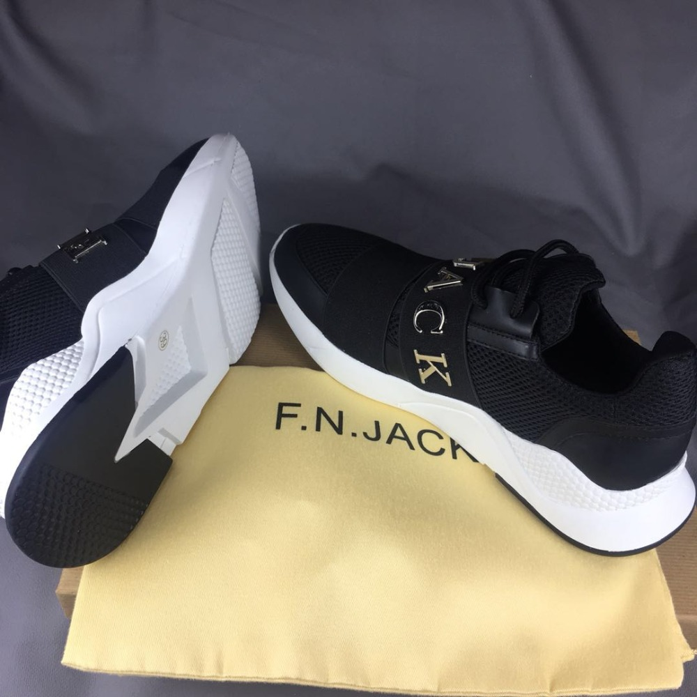 F.N.JACK Fashion Shoes Man Sneakers Sport Runner Fabric Trenerzy - Buty męskie - Zdjęcie 5
