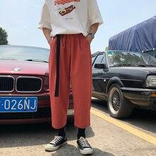 2019 メンズレジャーファッショントレンド綿カジュアルパンツルーズパンツ能動型弾性ハーレムヒップホップジョガースウェットパンツサイズ S XL