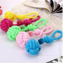 Newest Pet Dog Toy Cotton Rope With Ball Interactive Training Dog Molars Teeth Clean And Durable Bite Ball Toys