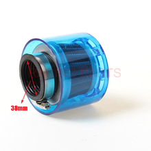 38mm WaterProof Air Filter fit 110/125cc Dirt Pit bike ATV Quad Go Kart monkey motorcycles Ail Free Shipping