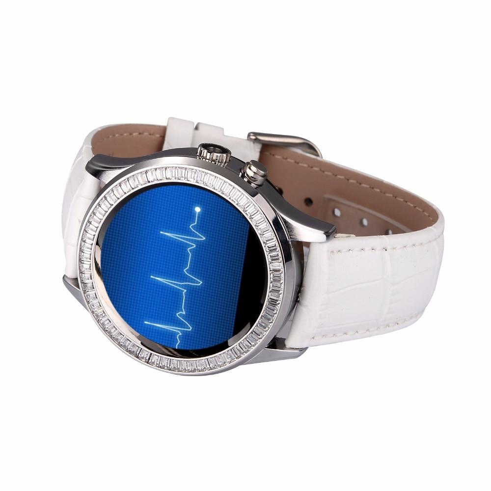 Frauen Diamant Smart Uhr mit Pulsmesser Wasserdicht Bluetooth und Kamera Smartwatch für iPhone Android Handy-in Smart Watches aus Verbraucherelektronik bei  Gruppe 1