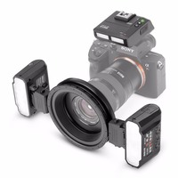 Meike MK MT24 Macro Twin Lite Flash for Sony Alpha A7 A7R A7S A7II A7RII A5000 A5100 A6000 A6300 A6500 Mirrorless Cameras