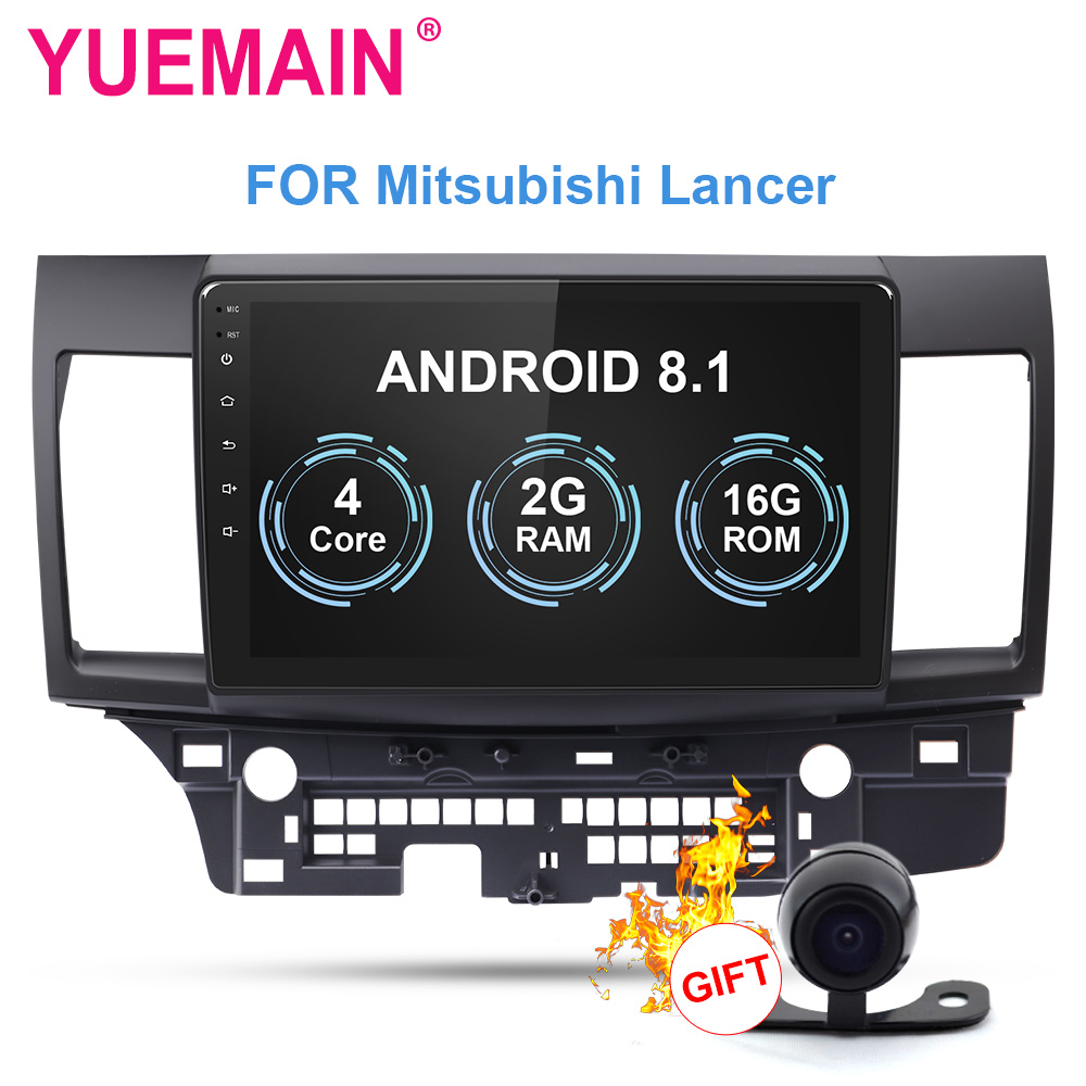 YUEMAIN Car radio Multimedia player For Mitsubishi Lancer 2Din Android 8.1 Autoradio GPS Navigation Video Audio Player DVR WIFI