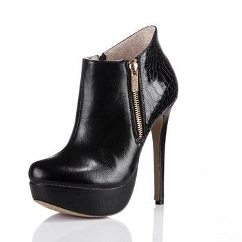 ca55653f CHMILE CHAU fiesta Sexy botines de tobillo botas de mujer alto tacón de aguja  Stivali Caviglia Scarpe col Tacco Bottes cheville 3463BT-T1