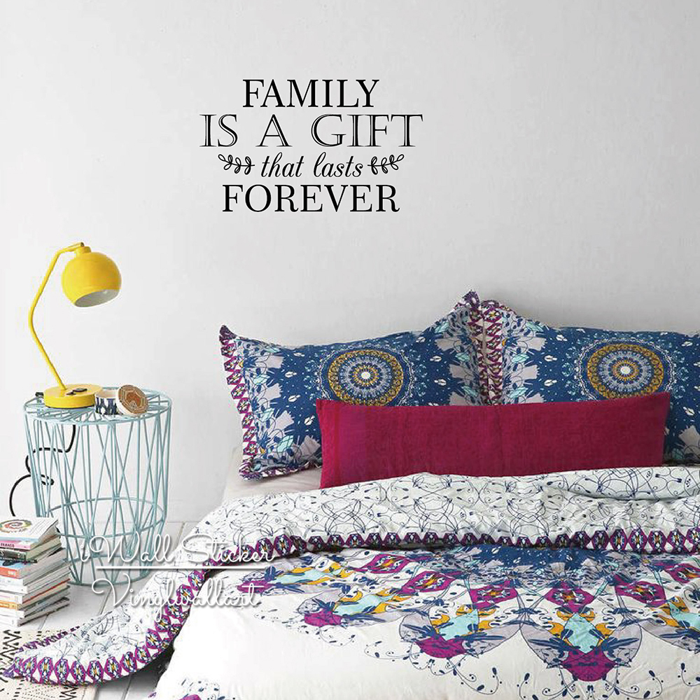 compare prices on family quotes online shopping buy low price family is gift that lasts forever quote wall sticker family quote wall decal easy wall art