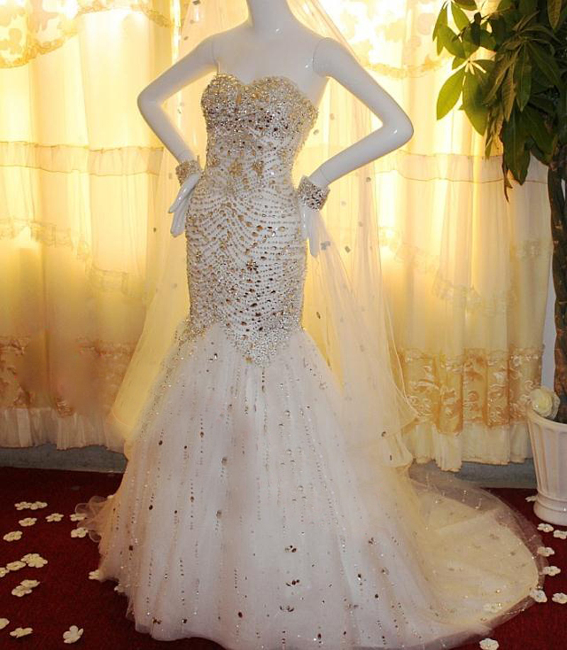 Online Buy Wholesale wedding dresses with diamond mermaid from ...