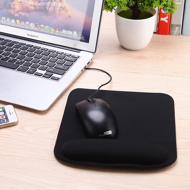 Profesjonell Thicken Square Comfy Wrist Mouse Pad for Optisk / Trackball Mat Mus Mouse Pad Computer