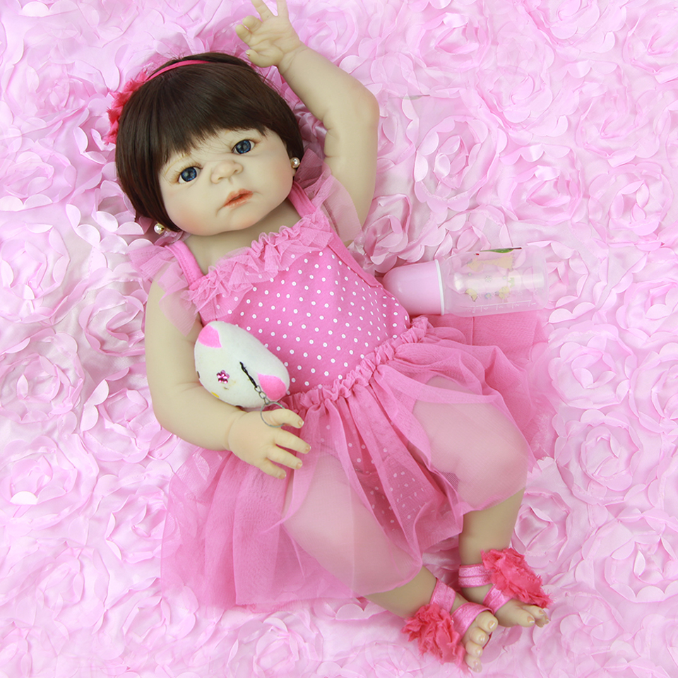 57 cm Real Like Princess Baby Doll Reborn Girl Lifelike 23 Inch Full Silicone Vinyl Baby Dolls New Design By NPK Kids COLLECTION