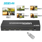 SGEYR 4X1 HDMI Multi-viewer HDMI Quad Screen Real Time Multiviewer with HDMI seamless Switcher function Full 1080P 3D with Rmote