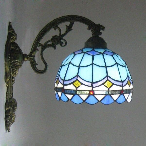 Teevan средиземноморский синий ретро минималистичный настенный светильник для ванной комнаты, зеркальный светильник для спальни, балкона, пр