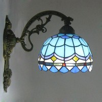 Teevan Mediterranean Blue Retro minimalist bathroom wall lighting mirror lamp bedroom balcony aisle porch lamp