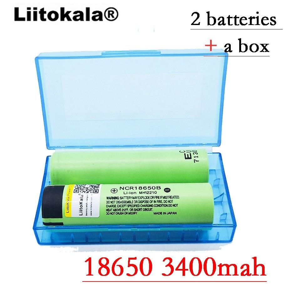 2017 Liitokala New Original 18650 NCR18650B 3400 mah Rechargeable Li-ion battery 3.7V 3400 battery liitokala original 3 6v 18650 us18650 vtc5a 2600mah high drain 30a battery for sony