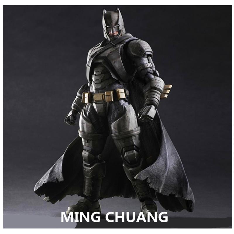 Justice League Batman v Superman: Dawn of Justice Play Arts Batman The Dark Knight Action Figure Collectible Model Toy 25cm Q46 xinduplan dc comics play arts kai justice league batman reloading dawn justice action figure toys 25cm collection model 0637