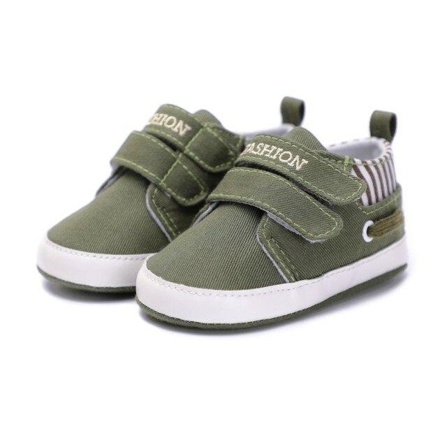Новые для маленьких мальчиков Обувь для девочек парусиновая обувь Высокое качество Два ремешка для новорожденных малышей Мода Обувь для малышей для детей 0-18 месяцев
