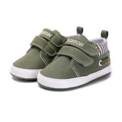 Neue Baby Jungen Mädchen Leinwand Schuhe Hohe Qualität Zwei Strap Neugeborenen Baby Kleinkind Mode Erste Wanderer Für 0-18 monat