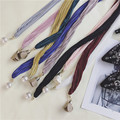 The new Korean version of the fashion tassel small scarves wild fresh color decorative scarves ladies trend cotton scarf