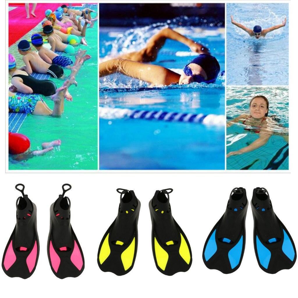 Aletas cortas de pie completo universales aletas de entrenamiento de buceo XXS/XS/S/M/L/XL chico aletas de natación para adultos aletas de agua de esnórquel