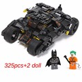 325pcs new Comics Super Heroes Batman series The Tumbler car model Building Blocks classic Compatible Legoed Toy Set