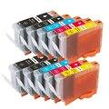 10 compatível Canon PGI-5 cartuchos de tinta para Pixma iP5200 iP7500 iP7600 MP610 MP800 MP800R impressoras preto + cor