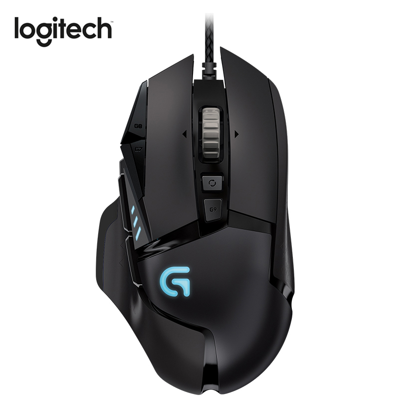 Logitech G502 PROTEUS SPECTRUM Gaming Mouse Wired with 12000DPI RGB Tunable Gaming Mouse with Delta Zero