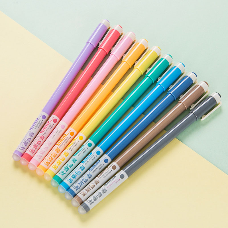 0.5mm Cute Kawaii Colored Gel Pen Creative Plastic Erasable Pen For Kids Writing School Supplies Free Shipping 2500