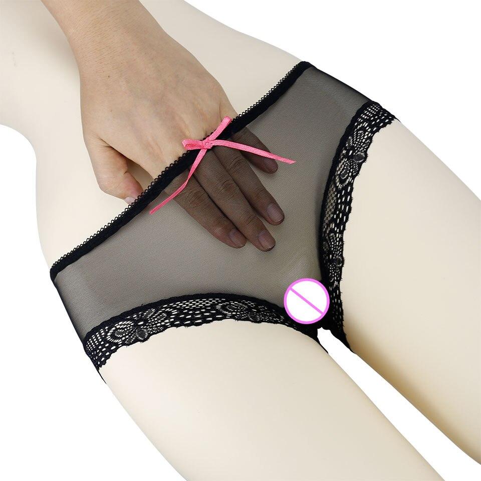 Women Ultra-thin Sexy Lace Panties Seamless Briefs Transparent Panties Female Underwear Solid Plus Size Panties Low-Rise Briefs panties