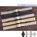 Quality Solid Stainless Steel Watch Band 14mm For Pebble Time Round Ladies Luxury Steel Strap