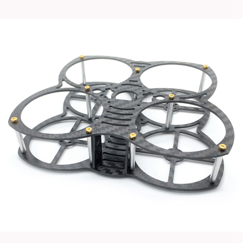 Exuav 90mm Wheelbase 1.5mm Thickness Carbon Fiber FPV Racing Frame 31g support Runcam Micro Swift for RC Quadcopter Drone цена