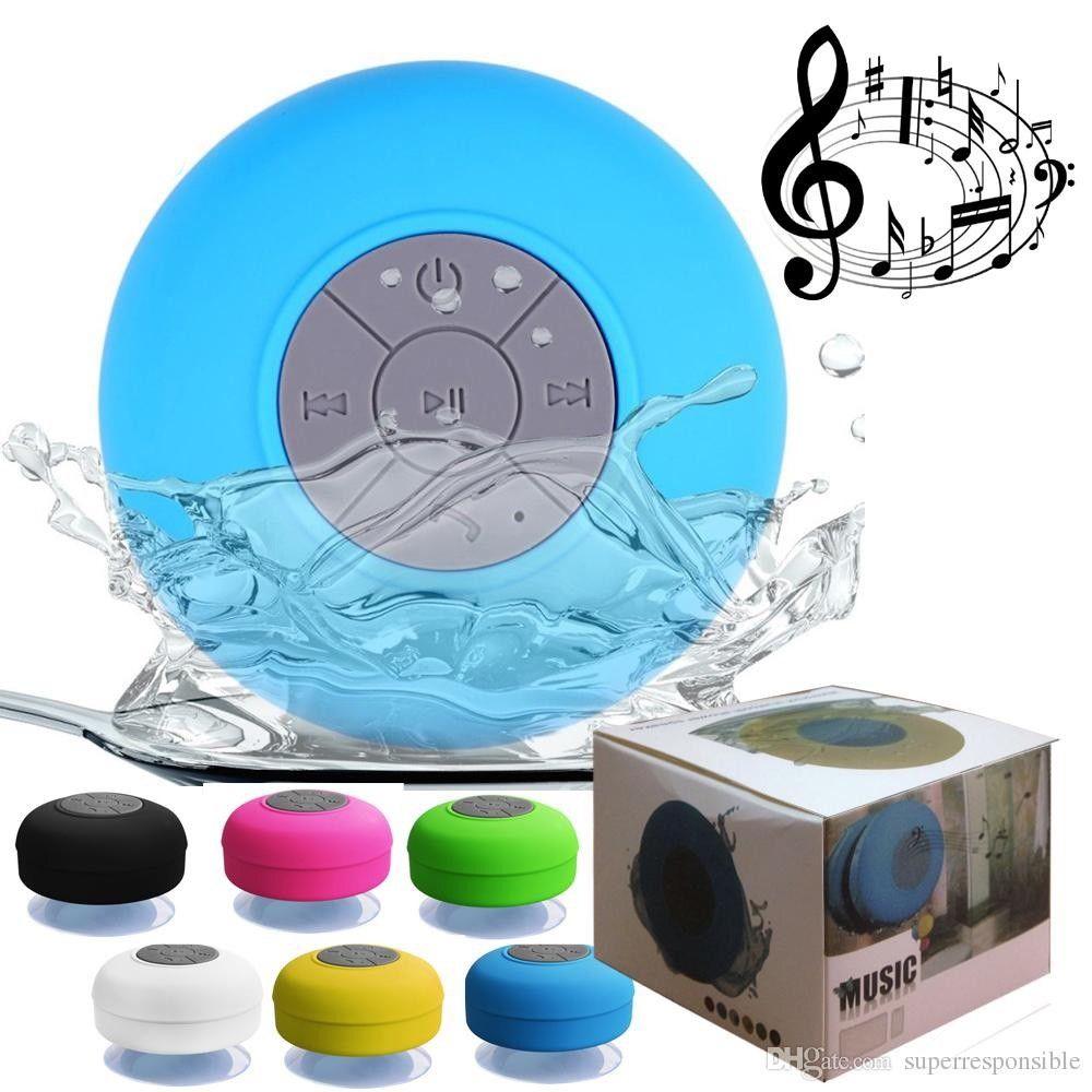 Hands-free Wireless Bluetooth Mini Speaker Mic Suction Waterproof  Lot BP