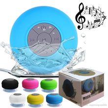 Altavoz Subwoofer portátil para ducha, inalámbrico por Bluetooth, resistente al agua, manos libres, recibe llamadas, música, micrófono de succión para iPhone y Samsung