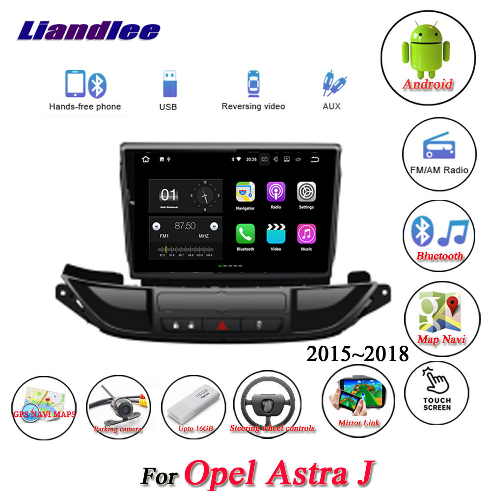Liandlee Car Android System For Opel Astra J 2015~2018 Radio AUX Mirror link GPS Navi Navigation HD Stereo Multimedia No CD DVD цены