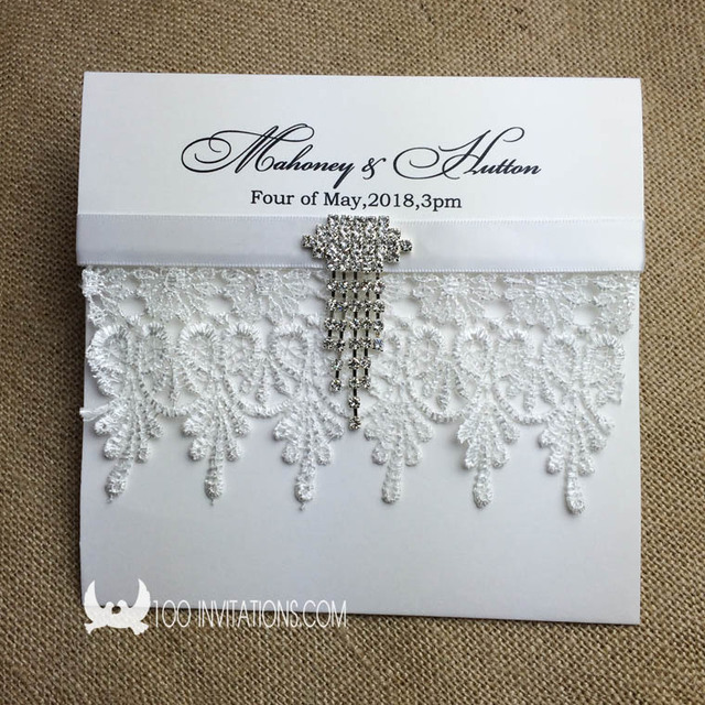 Creative Elegant Pocket Fold Wedding Invitations A Set ...