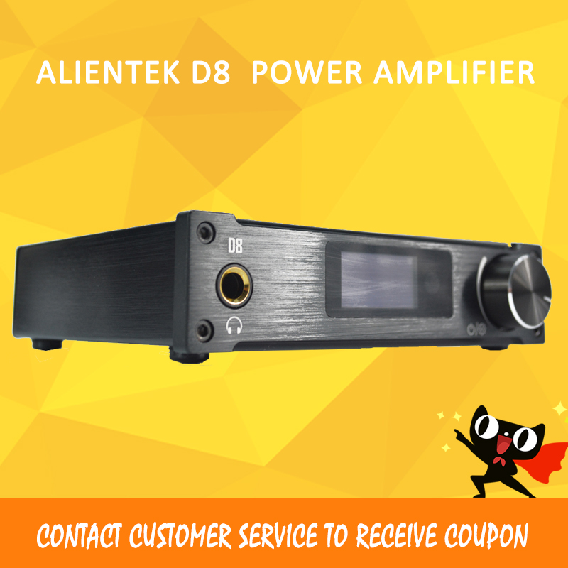 ASD Alientek D8 Full Pure Digital Audio Input USB/XMOS/Coaxial/Optics/AUX 80W*2 24Bit/192KHz DC28V Class d Power alientek d8 class d xmos 80w 2 mini hifi stereo audio digital amplifier coaxial optical usb amplifier power supply