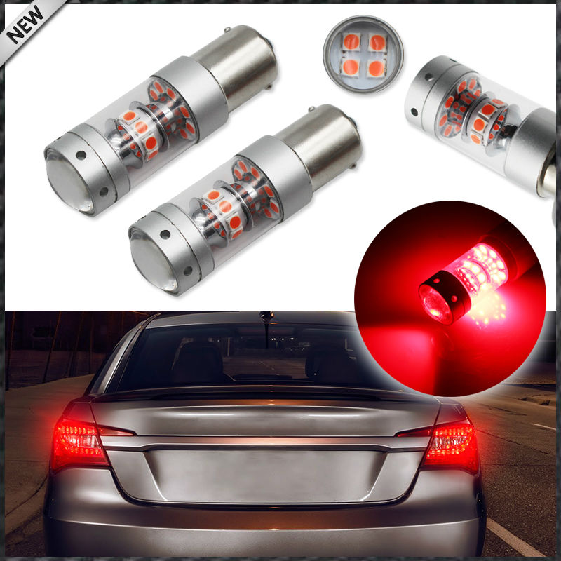 iJDM Brilliant Red 28-piece 3030 SMD 1156 7506 P21W BA15S LED Bulbs For Turn Signal Lights, Tail Lights, Brake Lights ijdm amber yellow error free bau15s 7507 py21w 1156py xbd led bulbs for front turn signal lights bau15s led 12v