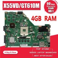 X55VD Материнская плата ноутбука GT610M 4 Гб Оперативная память REV2.1/2,2 для ASUS X55V X55VD Тесты материнская плата X55VD материнская плата Тесты 100% ОК