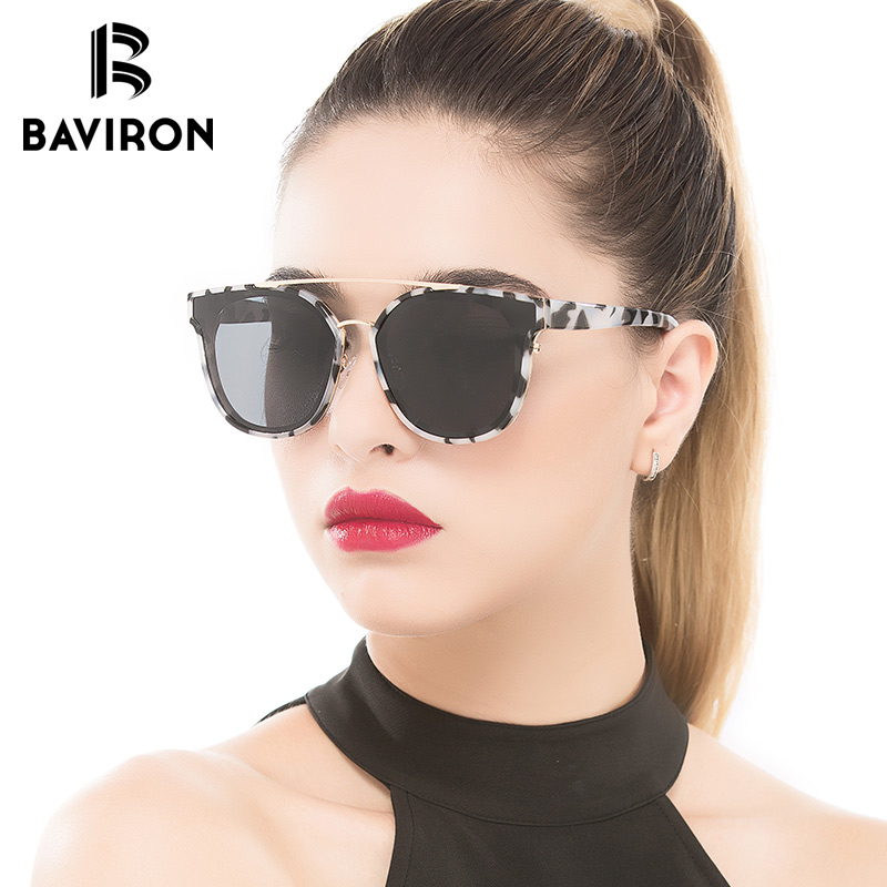 d616d8e9fd BAVIRON Vintage Butterfly Sunglasses For Women Classic Polarized Cat Eye  Colorful Mirrored Sun Glasses Gorgeous Fashion Eyewear