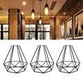 Геометрический подвесной металлический светильник, Ретро винтажный подвесной светильник, абажур, железная клетка ALI88
