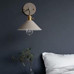 Современный простой железный настенный светильник кантри дома деко настенный светильник светодиодный с 7 цветами для спальни гостиной ресторана кафе магазина прохода