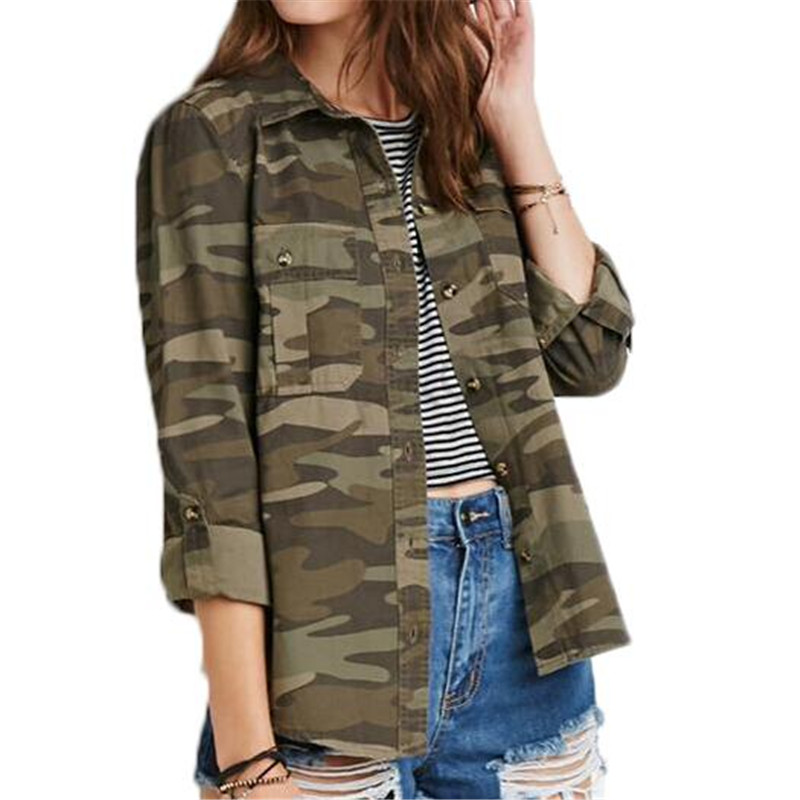 Online Get Cheap Womens Camouflage Shirts Aliexpress Com