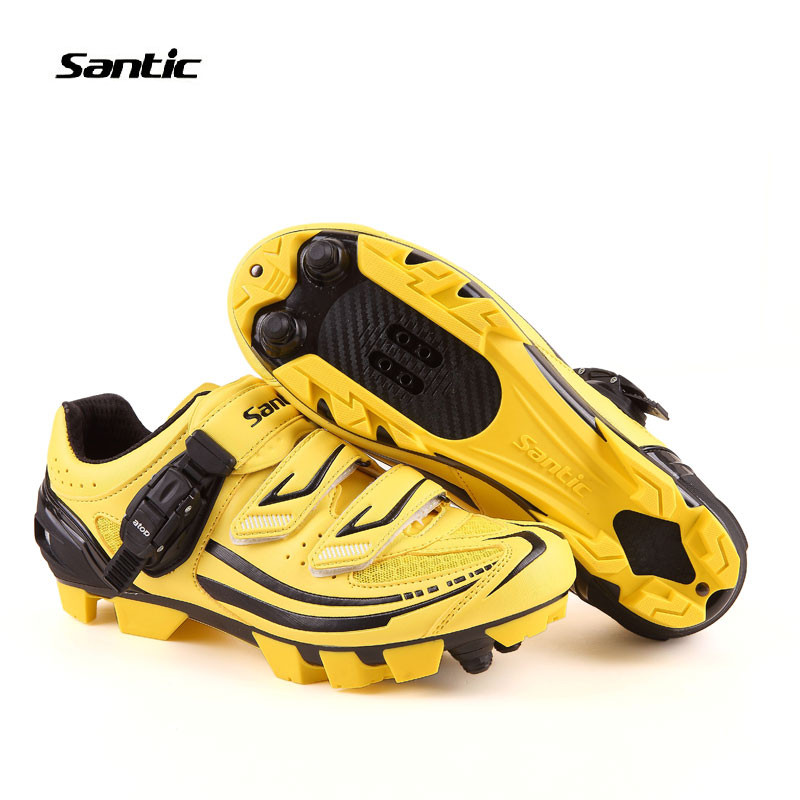 Santic MTB Cycling Shoes zapatillas ciclismo Bicycle cycling Shoes Men Cleated Shoes zapatos Bike Mens Cycling Shoes S12011Y west biking bike chain wheel 39 53t bicycle crank 170 175mm fit speed 9 mtb road bike cycling bicycle crank