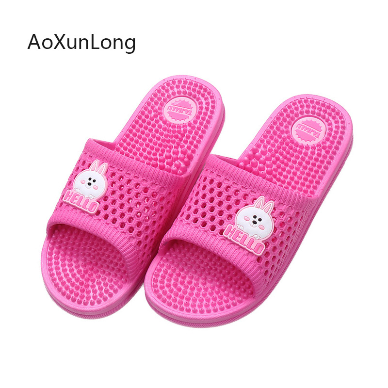 Massage-Slippers Home Slides Indoor Flat-Shoes Soft-Sole Summer Women New-Arrival